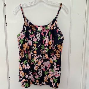 A new day floral camisole blouse with ruffle